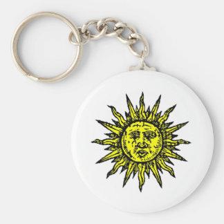 Yellow Sun Symbol Keychain