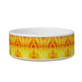 Yellow Sunburst Geometric Cube Design Bowl