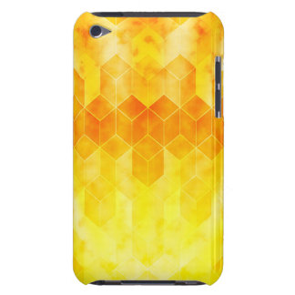 Yellow Sunburst Geometric Cube Design iPod Touch Covers