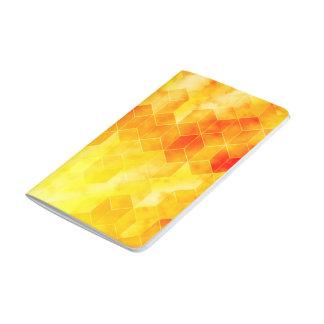 Yellow Sunburst Geometric Cube Design Journal