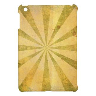 Yellow Sunburst Grungy iPad Mini Cover