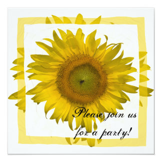 Yellow Sunflower All Occasion Party Invitation