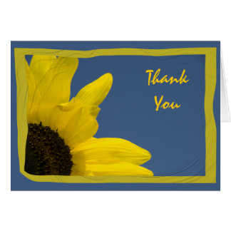 Yellow Sunflower and Blue Sky Thank You Card