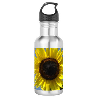 Yellow Sunflower And The Blue Sky 532 Ml Water Bottle