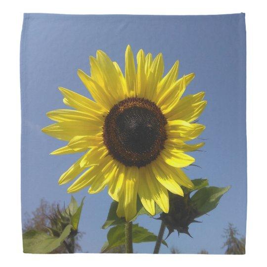 Yellow Sunflower And The Blue Sky Bandanas