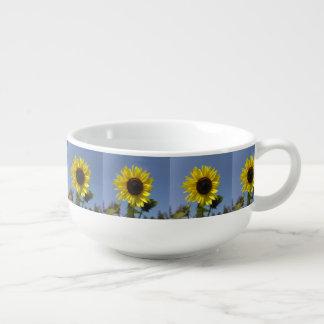 Yellow Sunflower And The Blue Sky Soup Mug