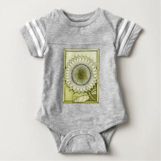 Yellow Sunflower Baby Bodysuit