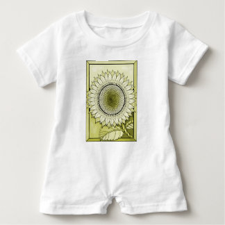 Yellow Sunflower Baby Romper