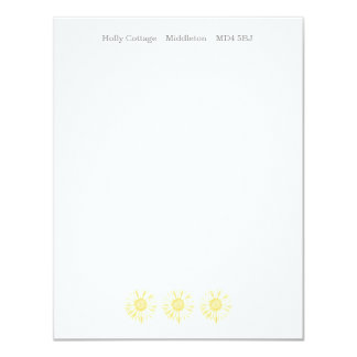 Yellow Sunflower banner Note Cards