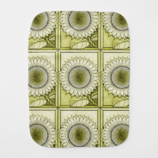 Yellow Sunflower Burp Cloth