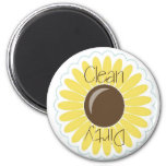 Yellow Sunflower Clean/Dirty Dishwasher Magnet