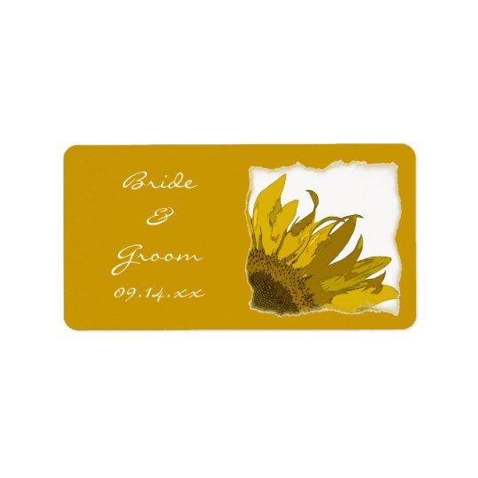 Yellow Sunflower Corner Wedding
