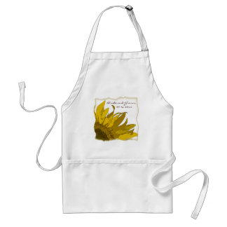 Yellow Sunflower Corner Wedding Standard Apron