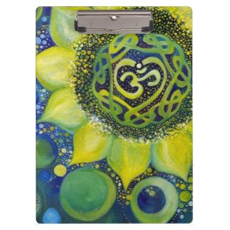 Yellow Sunflower Crown Chakra Design Clipboard