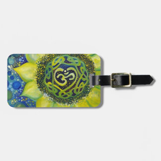 Yellow Sunflower Crown Chakra Design Luggage Tag