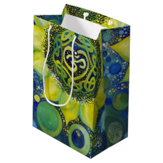Yellow Sunflower Crown Chakra Design Medium Gift Bag