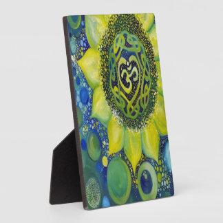 Yellow Sunflower Crown Chakra Design Plaque