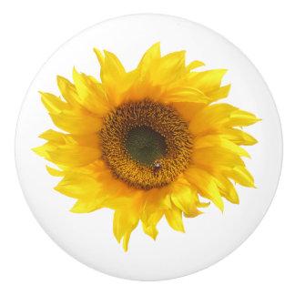 yellow sunflower door knob