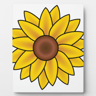 Yellow Sunflower Drawing Plaque