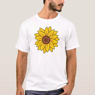 Yellow Sunflower Drawing T-Shirt