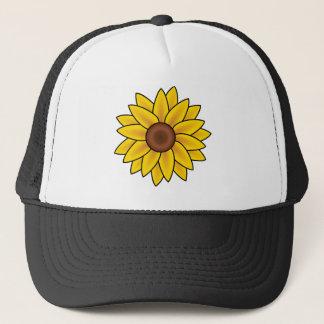Yellow Sunflower Drawing Trucker Hat