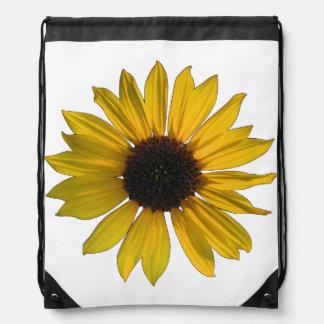 Yellow Sunflower Drawstring Bag