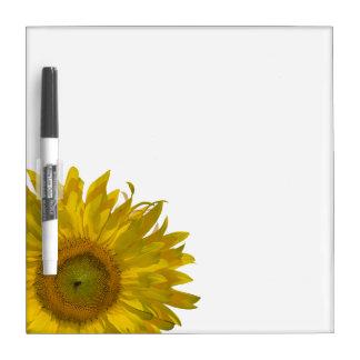 Yellow Sunflower Dry Erase Board