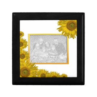 Yellow Sunflower Edge Photo Gift Box