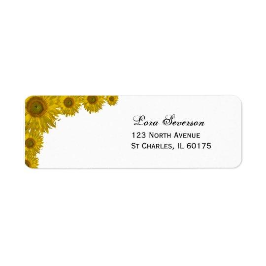 Yellow Sunflower Edge Wedding