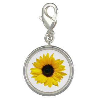 Yellow Sunflower Flower Floral Charms