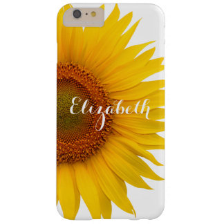 Yellow Sunflower Flower Floral Personalized Barely There iPhone 6 Plus Case