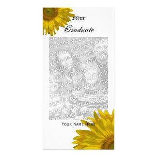Yellow Sunflower Graduation Announcement Photo Card