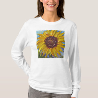 Yellow Sunflower  Ladies Long Sleeve (Fitted) T-Shirt