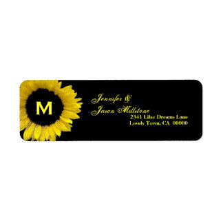 Yellow Sunflower Monogram Wedding