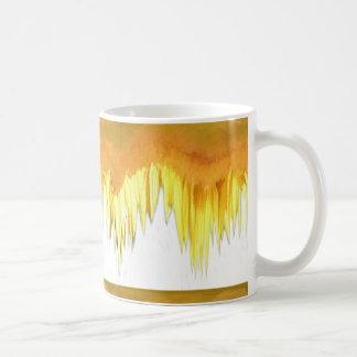 Yellow Sunflower Motif Coffee Mug