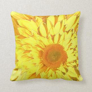 Yellow Sunflower Motif III Throw Pillow