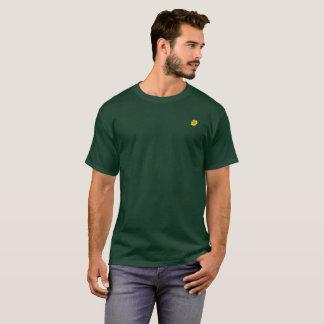 Yellow Sunflower on Dark Green Pocket Area. T-Shirt