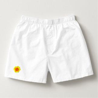 Yellow Sunflower on White Boxers