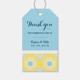 Yellow Sunflower Pattern Gift Tags for Wedding