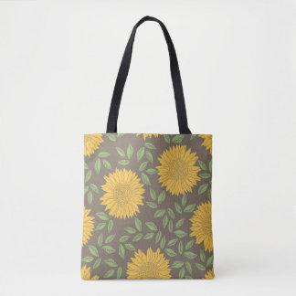 Yellow Sunflower Pattern Tote Bag