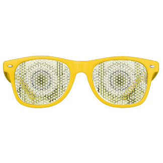 Yellow Sunflower Retro Sunglasses