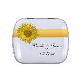Yellow Sunflower Stripe Wedding Favor