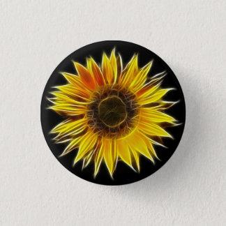 Yellow Sunflower Sun Flower Plant 1 Inch Round Button