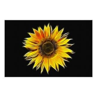 Yellow Sunflower Sun Flower Plant Stationery Design