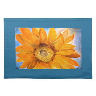 Yellow Sunflower Watercolor Art Placemat