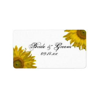 Yellow Sunflower Wedding Favor Tag