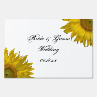 Yellow Sunflower Wedding Sign