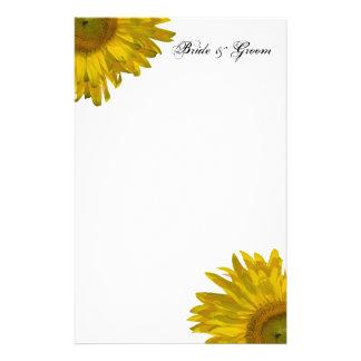 Yellow Sunflower Wedding Stationery