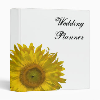 Yellow Sunflower Wedding Vinyl Binders