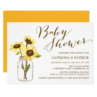 Yellow Sunflowers Baby Shower Invitation